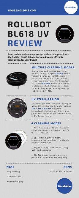 Rollibot Bl618 Quiet Robotic Vacuum Cleaner Review